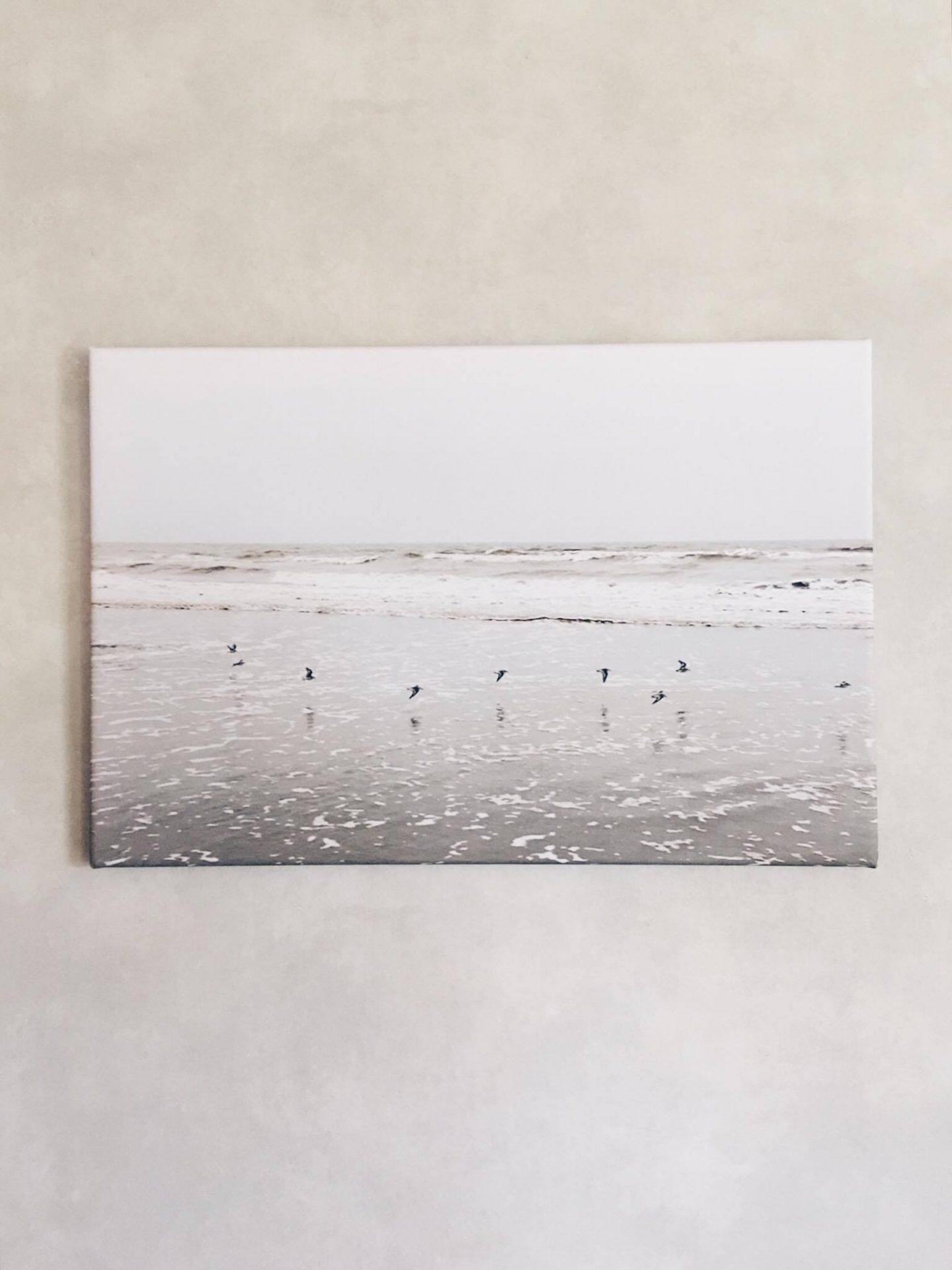 De zee in huis • Review foto op canvas