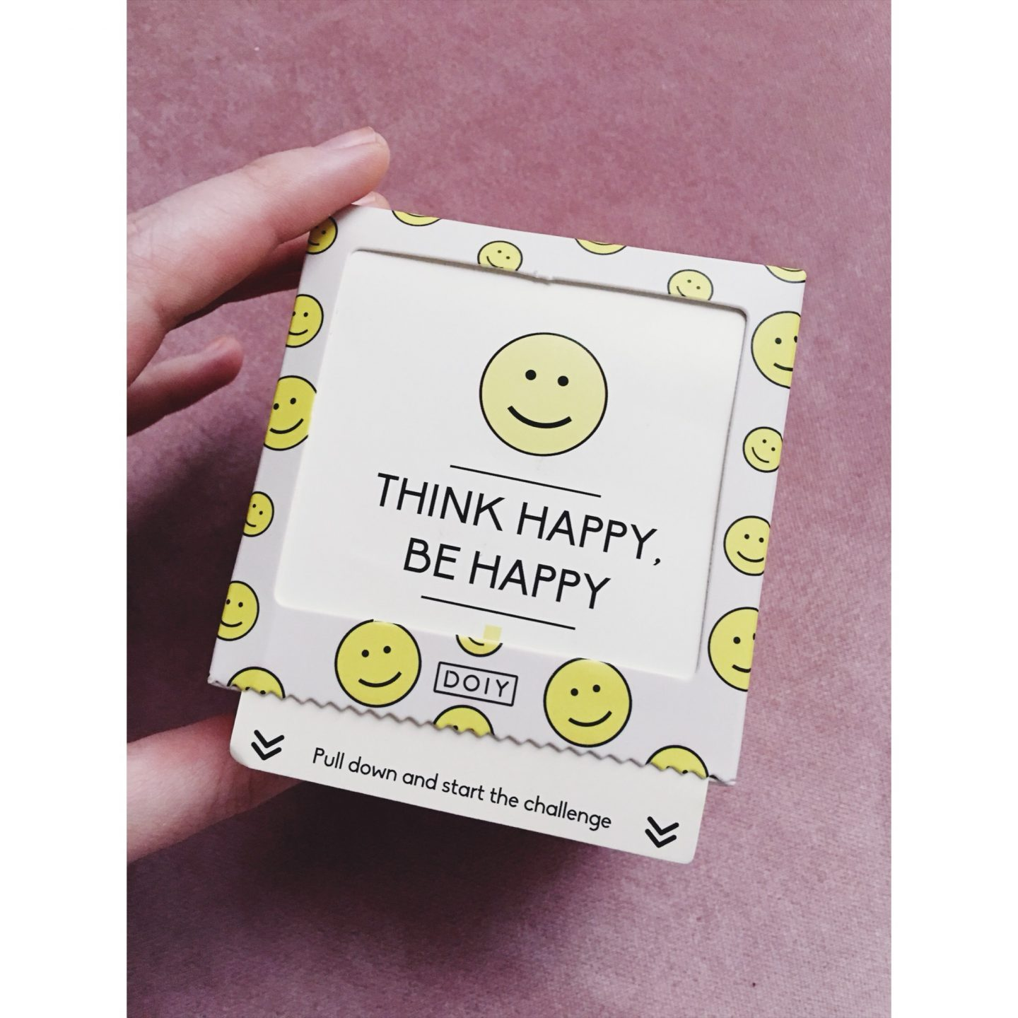 Challenge | Think happy, be happy.