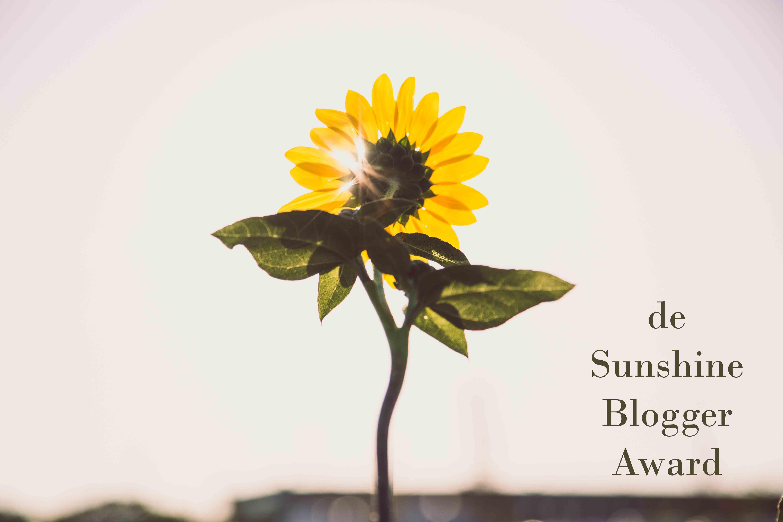 De Sunshine Blogger Award.